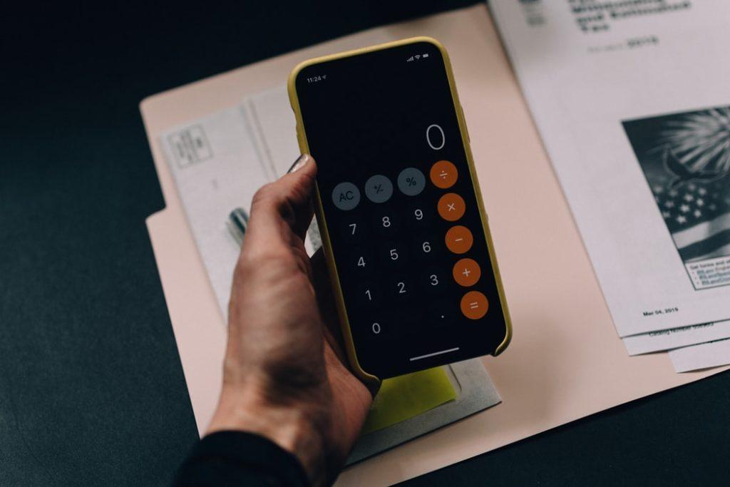 Calculadora para planejar o orçamento